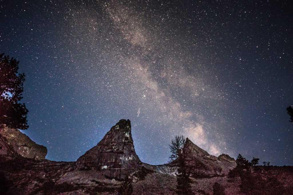 Млечный путь Парабола Ергаки Ночное небо