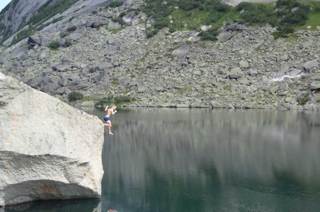 Прыжки в воду Ергаки